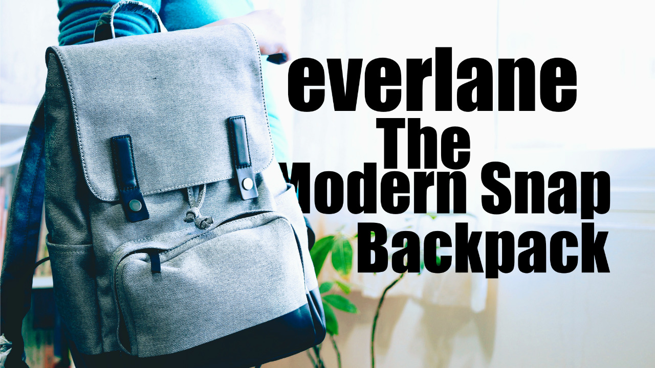 Everlane The Modern Snap Backpack 開箱